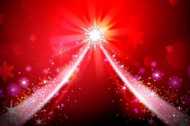 赤い輝く要素とクリスマスの背景