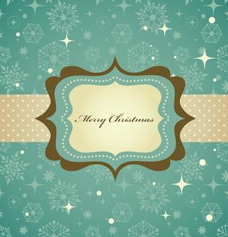 レトロなパターンとフレームのクリスマスの背景