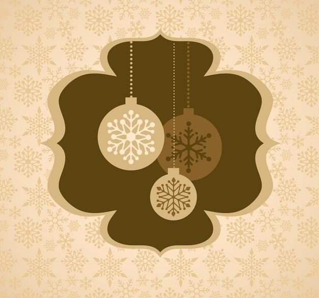 Рождественский фон с ретро узором