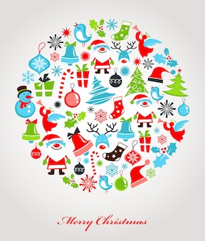 Christmas background with retro pattern,
