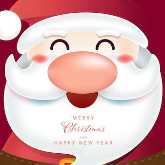 Christmas background with santa character