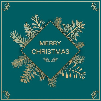 Новогодний фон с блестящими золотыми снежинками. надпись с рождеством христовым карты иллюстрации.