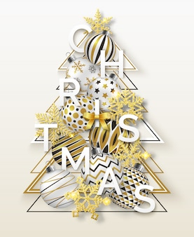 Christmas background with shining snowflakes