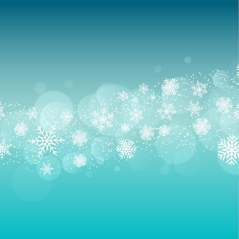 Christmas background with snowflakes design