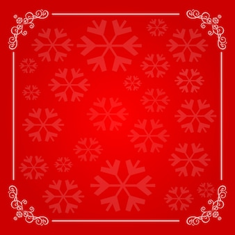 Christmas background with snowflakes frame