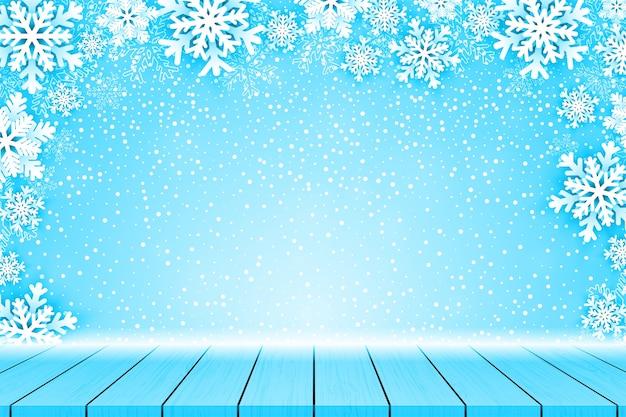 Новогодний фон с рамкой снежинки