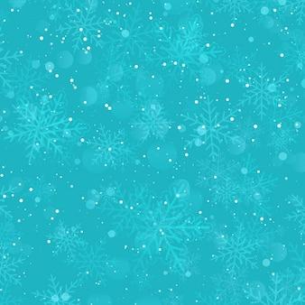 눈송이와 크리스마스 배경