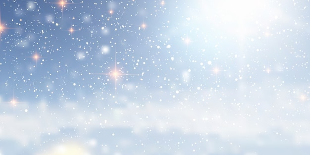 Christmas background with a snowy design