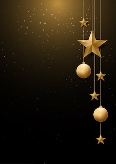 Christmas background with  and space for text