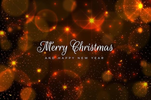 きらめく要素とクリスマスの背景