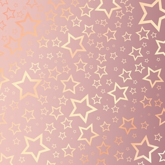 Christmas background with starry pattern on rose gold