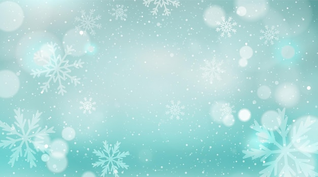 Christmas background with unfocussed winter landscape