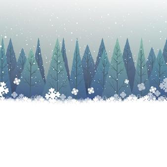 겨울 이벤트 및 복사 공간이 있는 크리스마스 배경