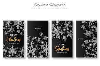 モバイル&Instagramストーリーのクリスマスの背景