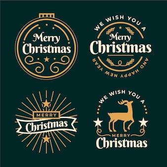 クリスマスバッジコレクション