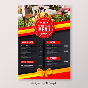 Christmas badge menu template