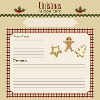 Christmas baking festive recipe card