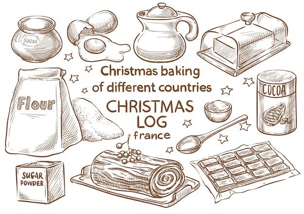 Christmas baking. ingredients