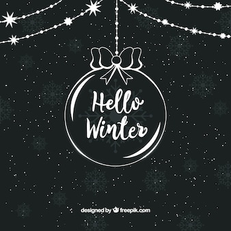Christmas ball background with text