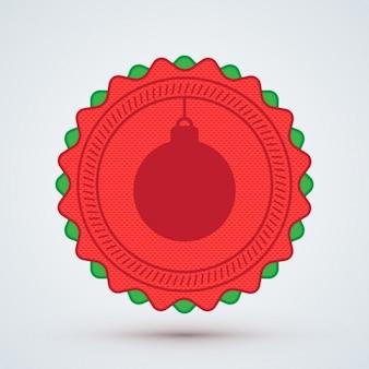クリスマスボールのバッジ