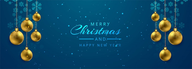 Christmas ball card banner