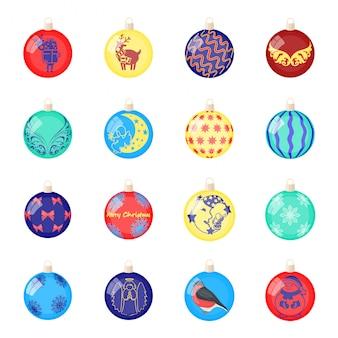 Christmas ball  cartoon set icon. decoration sphere isolated cartoon set icon.  christmas ball  .