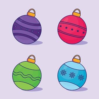 Рождественский бал красочный набор векторных