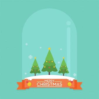Christmas ball crystal pine tree