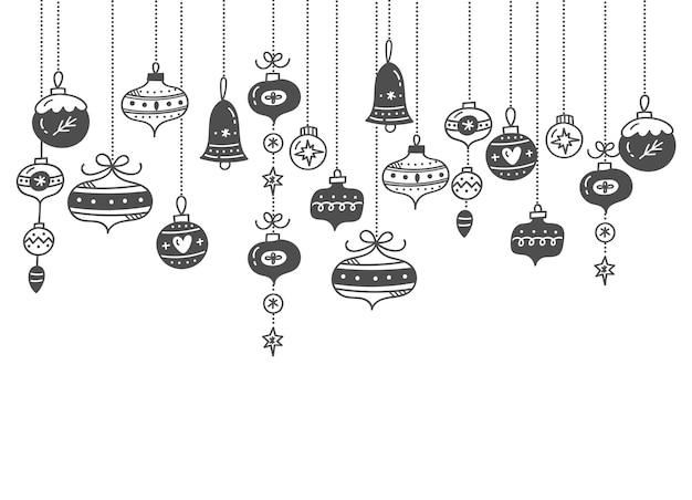 Christmas ball decoration   illustration