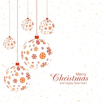Christmas ball decorative vector background