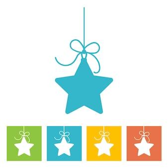 Christmas ball. new year icon. vector illustration