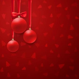弓とシルクリボンのクリスマスボール