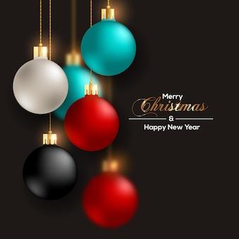 Рождественский бал реалистичный красный черный и золотой цвет