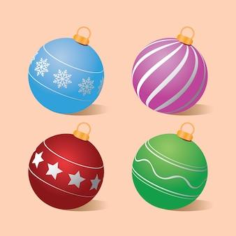 Рождественский бал набор 3d векторные иллюстрации