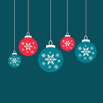 Christmas ball snow ornament