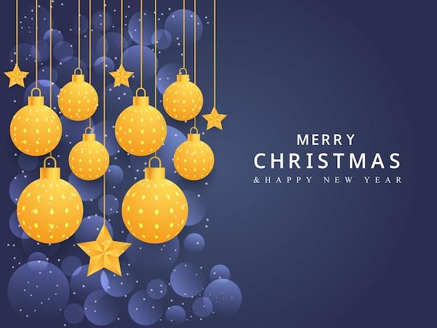 크리스마스 공 별 상자 디자인 크리스마스 배너 화려한 배경 디자인 크리스마스 축제