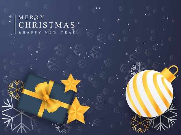크리스마스 공 스타 상자 디자인 크리스마스 배너 화려한 배경 디자인