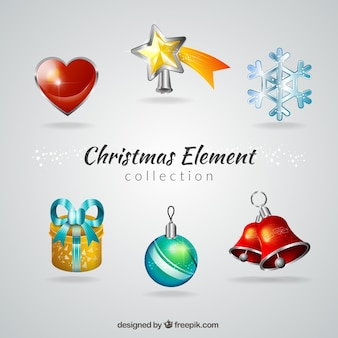Christmas ball with other decorative elements