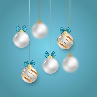 ホワイトゴールデンコンセプトのクリスマスボール