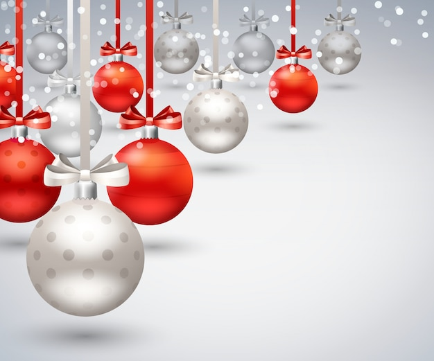 Christmas balls abstract background