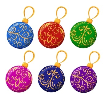 クリスマスボールクリスマスツリーと家の明るいおもちゃのためのクリスマスの装飾