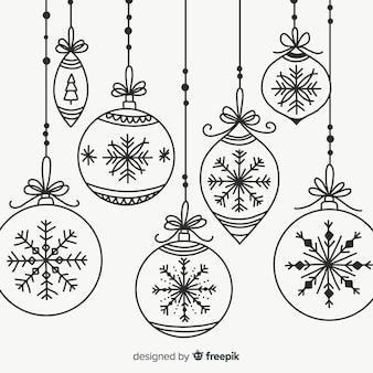 Коллекция рождественских шаров