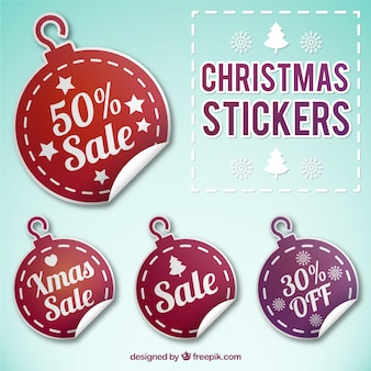 Christmas balls discount stikers