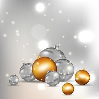 Christmas balls modern background