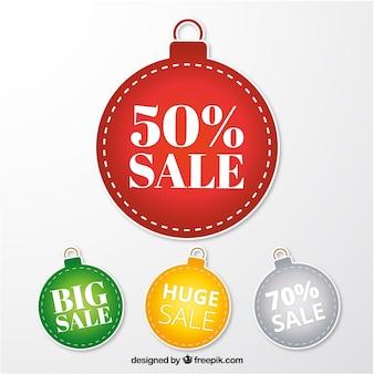 크리스마스 공 판매 스티커 컬렉션