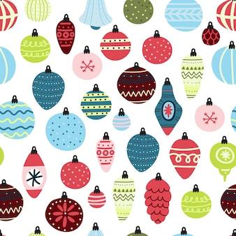 クリスマスボールのシームレスなパターン。