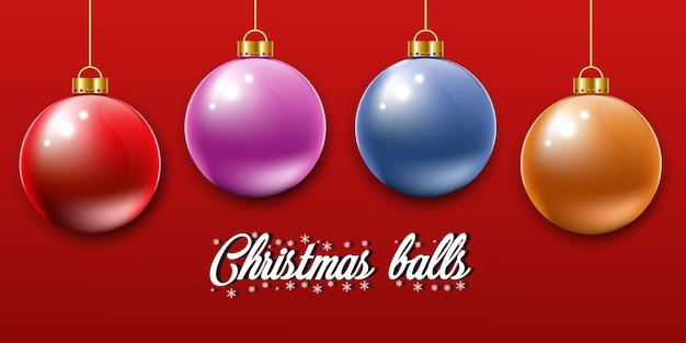 Christmas balls vector illustration.