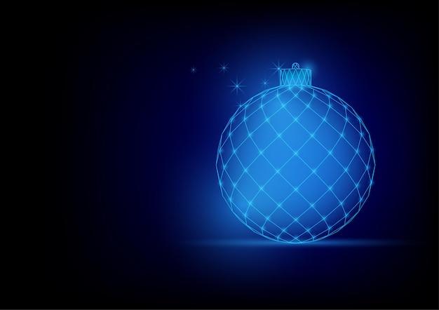 Christmas balls wireframe