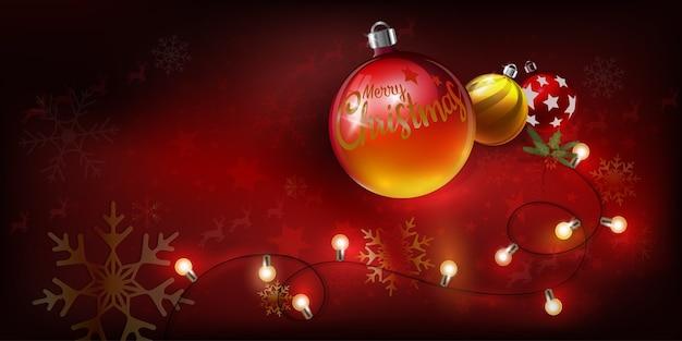 テキストのクリスマスボールメリークリスマス