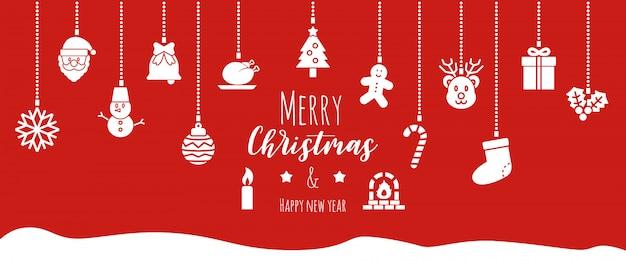 Christmas banner background